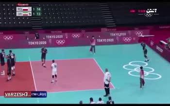 فیلم/ دفاع تماشایی تیم ملی والیبال ایران در ست سوم مقابل لهستان (المپیک 2020)