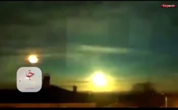 فیلم/ انفجار شهاب سنگی عظیم در آسمان نروژ