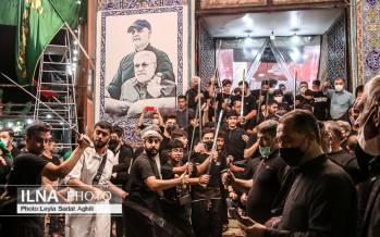 تصاویر شب تاسوعای حسینی در محله عراقی های تهران,عکس های مراسم تاسوعا در تهران,تصاویر تاسوعای حسینی در تهران