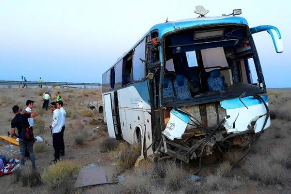 اتوبوس مسافری یزد مشهد,تصادف اتوبوس مسافری یزد مشهد