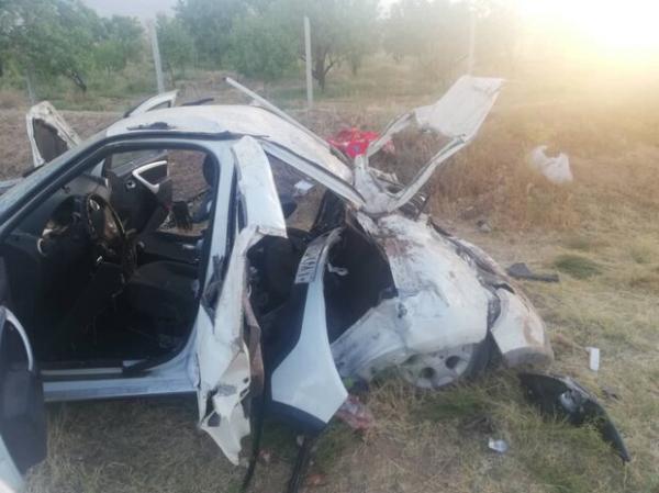 سانحه رانندگی برخورد یک دستگاه خودروی ساندرو با الاغ در محور شبستر,تصادف با الاغ