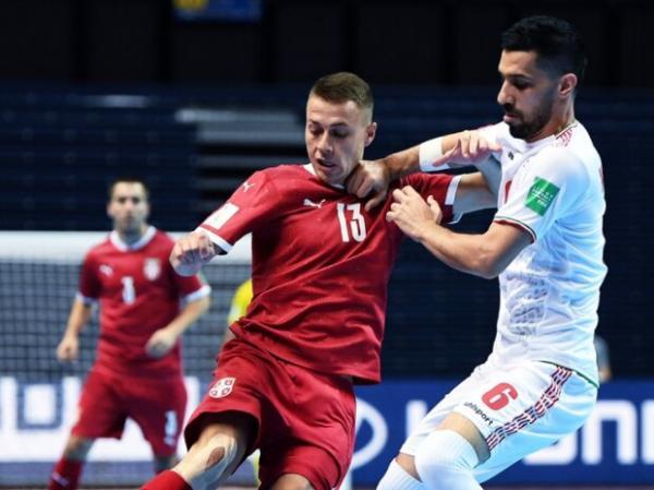 جام جهانی فوتسال,دیدار تیم ملی فوتسال ایران و صربستان