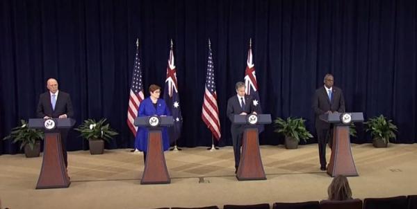 واکنش وزیر خارحه آمریکا به اظهارات لودریان,نشست خبری مقامات آمریکایی
