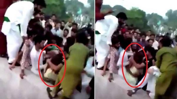 حمله 400 مرد به دختر اینفلوئنسر در پاکستان,حمله به یک دختر در پاکستان