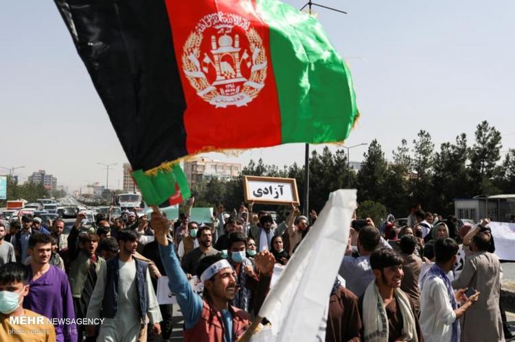 تصاویر تظاهرات گسترده در افغانستان علیه طالبان,عکس های اعتراضات در افغانستان,تصاویری از تظاهرات در افغانستان