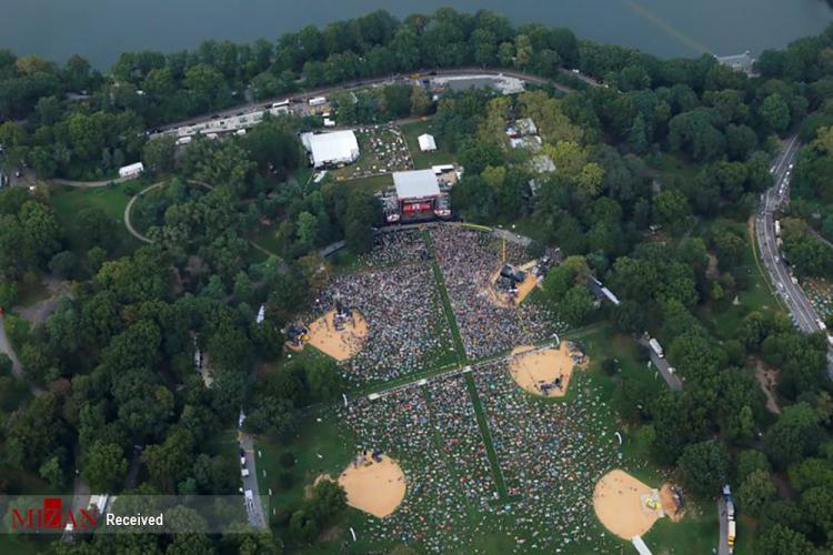 تصاویر برگزاری کنسرت در دوران کرونا,عکس های کنسرت در آمریکا,تصاویر برگزاری کنسرت در وضعیت کرونایی آمریکا