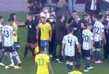 تعویق تیمهای ملی فوتبال برزیل و آرژانتین,حمله نیروهیا پلیس به بازیکنان آرژانتین
