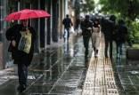 وضعیت آب و هوای کشور,رگبار باران در پنج استان