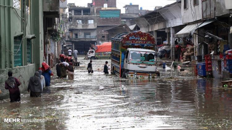تصاویر باران و سیل در پاکستان,عکس های سیل در پاکستان,تصاویر خسارت سیل در پاکستان