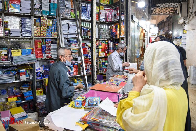 تصاویر بازار کساد لوازم التحریر,عکس های وضعیت لوازم التحریری ها فروشی ها در آستانه بازگشایی مدارس,تصاویر لوازم التحریرهای کشور