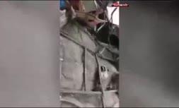 فیلم/ مینی بوس واژگون شده در محور سرواباد - کامیاران
