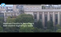 فیلم   ثبت شاهکار تاریخی با طناب بازی روی پاریس