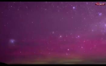 فیلم/ شفق قطبی صورتی در آسمان ایالت تاسمانی در استرالیا