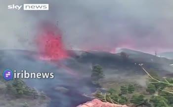 فیلم | فوران آتشفشان در جزایر قناری اسپانیا