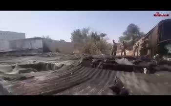 فیلم/ آتشسوزی در ۲۰ غرفه بازار گل محلاتی