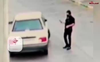 فیلم/ سرقت ناجوانمردانه پراید از یک زن در مشهد