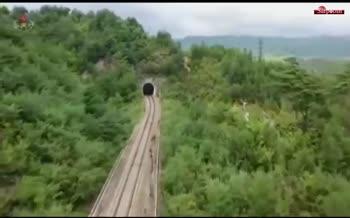 فیلم/ شلیک دو موشک کرهشمالی از روی قطار