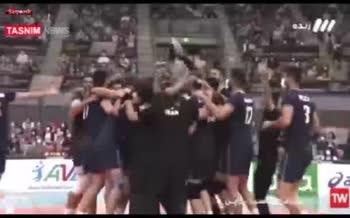 فیلم | دیدار تیم ملی والیبال ایران برابر ژاپن در رقابت های قهرمانی ۲۰۲۱ آسیا