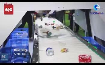 فیلم/ ربات تفکیک زباله چینی