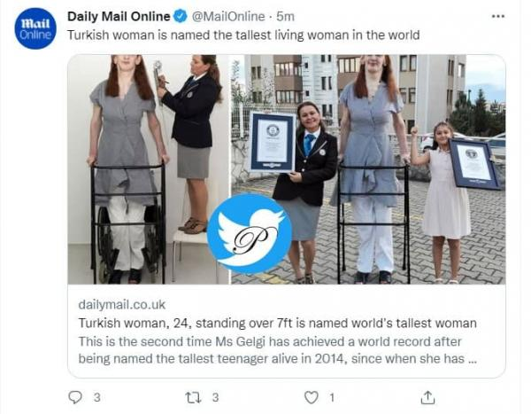 Rumeysa Gelgi اهل ترکیه, بلندقدترین زن دنیا در گینس