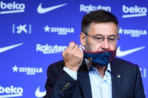 جوزپ بارتومئو,واکنش رئیس سابق باشگاه بارسلونا به ادعای لاپورتا
