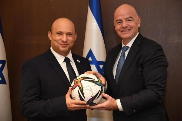 جیانی اینفانتینو,رئیس فیفا و نخست وزیر اسرائیل