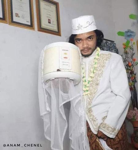 ازدواج مرد اندونزیایی با پلوپز,ازدواج با پلوپز در اندونزی