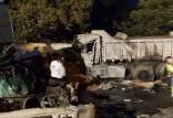 تصادف در ولنجک,حادثه تصادف در مسیر شمال به جنوب انتهای خیابان ولنجک