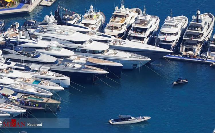 تصاویر نمایشگاه قایق های تفریحی بسیار لوکس و گران قیمت در موناکو,عکس های نمایشگاه قایق در فرانسه,تصاویری از قایق های لوکس
