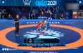 فیلم/ پیروزی محمدرضا گرایی مقابل حریف روسی در فینال و کسب مدال طلای رقابتهای کشتی فرنگی قهرمانی جهان