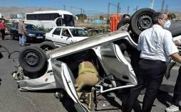 تصادف سیستان, واژگونی یک دستگاه خودروی وانت در محور سراوان ـ خاش