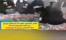 فیلم/ تحصن کشاورزان مقابل دفتر نماینده اصفهان برای خواندن نماز باران
