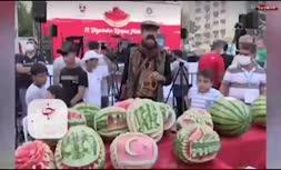 فیلم/ جشنواره هندوانه در ترکیه