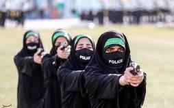 تصاویر پلیس های زن ایران در مراسم صبحگاه مشترک نیروی انتظامی تهران بزرگ,عکس های پلیس ها زن کشور,تصاویر پلیس زن ایران