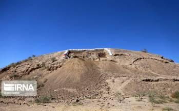 عکس تپه ریوی,تصاویر تپه ریوی خراسان شمالی,عکس های باستان شناسی تپه ریوی