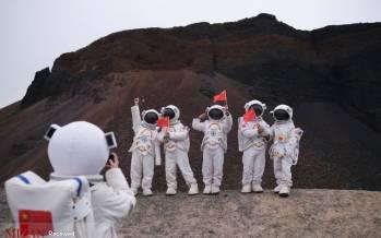 تصاویر فضانوردان در نزدیکی آتشفشان اولان هاد در چین,عکس های تماشای آتشفشان Ulan Had توسط فضانوردان