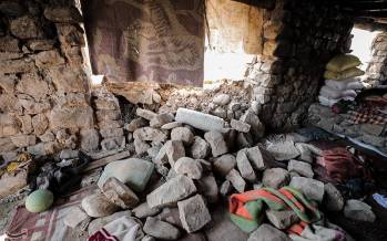 تصاویر خسارات زلزله در منطقه بازفت شهرستان کوهرنگ,عکس های زلزله در بافت,تصاویر زلزله در چهارمحال و بختیاری