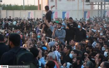 تصاویر زائران ایرانی پشت مرز بسته عراق,عکس های ایرانی ها در مرز عراق,تصاویر زائران ایرانی در مرز شلمچه