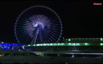 فیلم/ افتتاح چرخ و فلک عین دبی