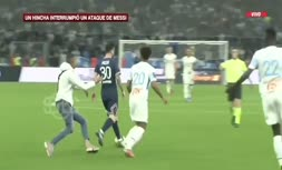 فیلم | حمله جیمی جامپ به لیونل مسی در بازی پاری سن ژرمن و مارسی