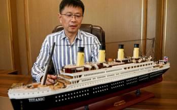 تصاویر ساخت ماکت تایتانیک,عکس های ساخت ماکت تایتانیک در چین,تصاویر کشتی تایتانیک