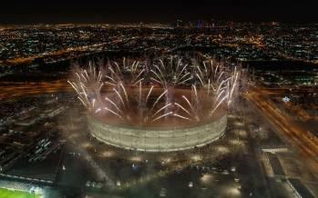 تصاویر افتتاح پنجمین ورزشگاه جام جهانی قطر 2022,عکس های ورزشگاه جام جهانی قطر 2022,تصاویری از پنجمین ورزشگاه جام جهانی قطر 2022