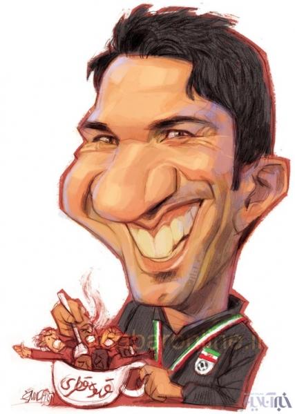 کاریکاتور,عکس کاریکاتور,کاریکاتور ورزشی,کاریکاتور جواد نکونام