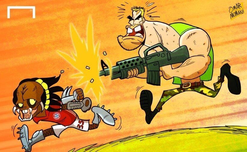 کاریکاتور,عکس کاریکاتور,کاریکاتور ورزشی,تصاویر آرنولد در باشگاه بایرن مونیخ,عکس های آرنولد در باشگاه بایرن مونیخ, تصاویر آرنولد