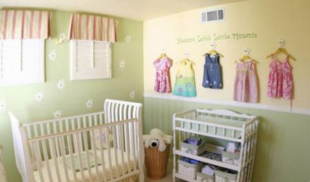 اتاق نوزاد,دکوراسیون اتاق نوزاد,طراحی اتاق نوزاد