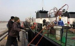 تصاویر پهلو گیری آزمایشی کشتی در مجتمع بندری کاسپین,عکس های پهلوگیری آزمایشی کشتی,عکس پهلوگیری کشتی در منطقه آزاد انزلی