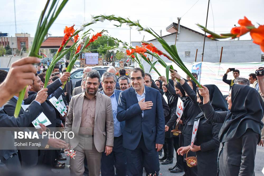 تصاویر سفر وزیر بهداشت و درمان,تصاویر قاضی زاده هاشمی, تصاویر وزیر بهداشت و درمان, تصاویر افتتاح بیمارستان امید,تصاویر بیمارستان آذربایجان غربی