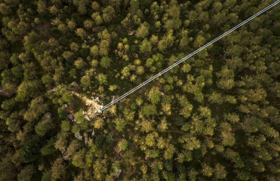 عکس های طولانیترین پل معلق عابر پیاده جهان,تصاویر طولانیترین پل معلق عابر پیاده جهان,عکس های پل معلق شهر زرمات سوییس