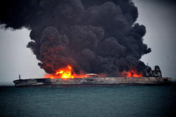 نفتکش آتش سوزی,اخبار اقتصادی,خبرهای اقتصادی,نفت و انرژی