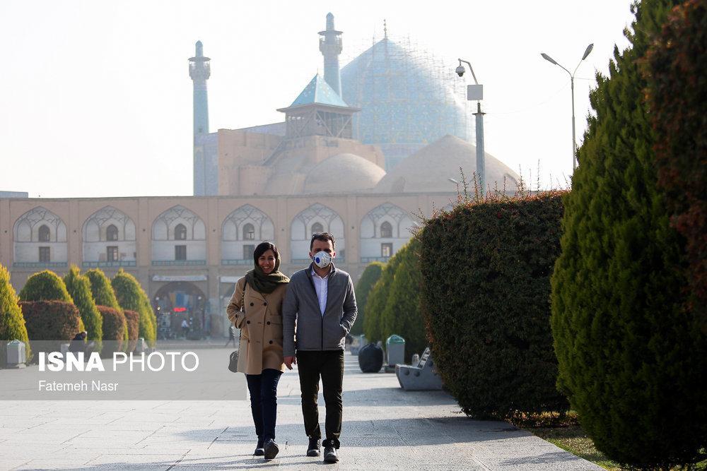 تصاویر وضعیت هوای اصفهان,عکسهای آلودگی هوای اصفهان,عکس های هوای ناسالم اصفهان